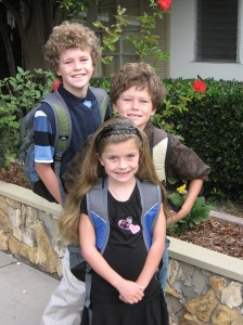 "A recent picture of the kids before ""new school year"" haircuts."