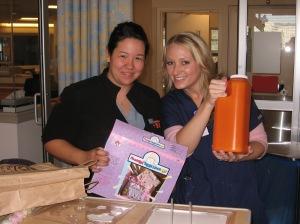 Nurses Sara and Heather!