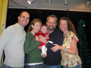 With Jayden, Joe and Jen at her dedication