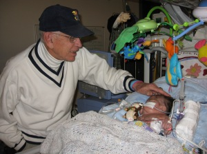 Grandpa Dick meets Rudy 12-25-08