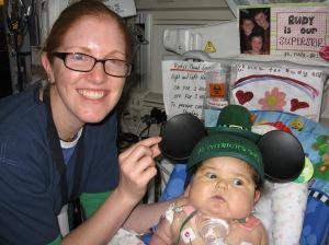 Nurse Aliza brought her regards fom Mickey!