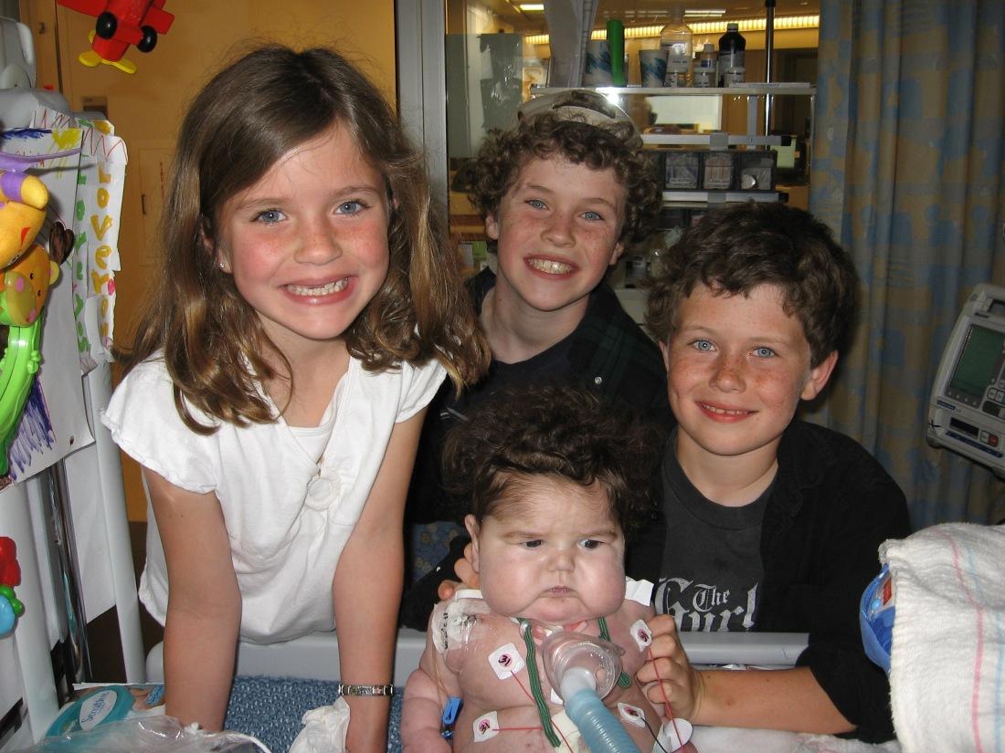 Rudy and his sibs at 26 weeks!