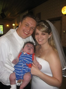 Rudy's first wedding 5-22-09