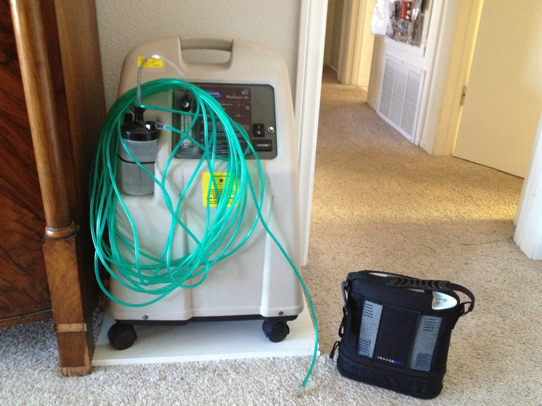 Check out the difference between our home O2 concentrator and the InogenOne Unit!  Amazing!!