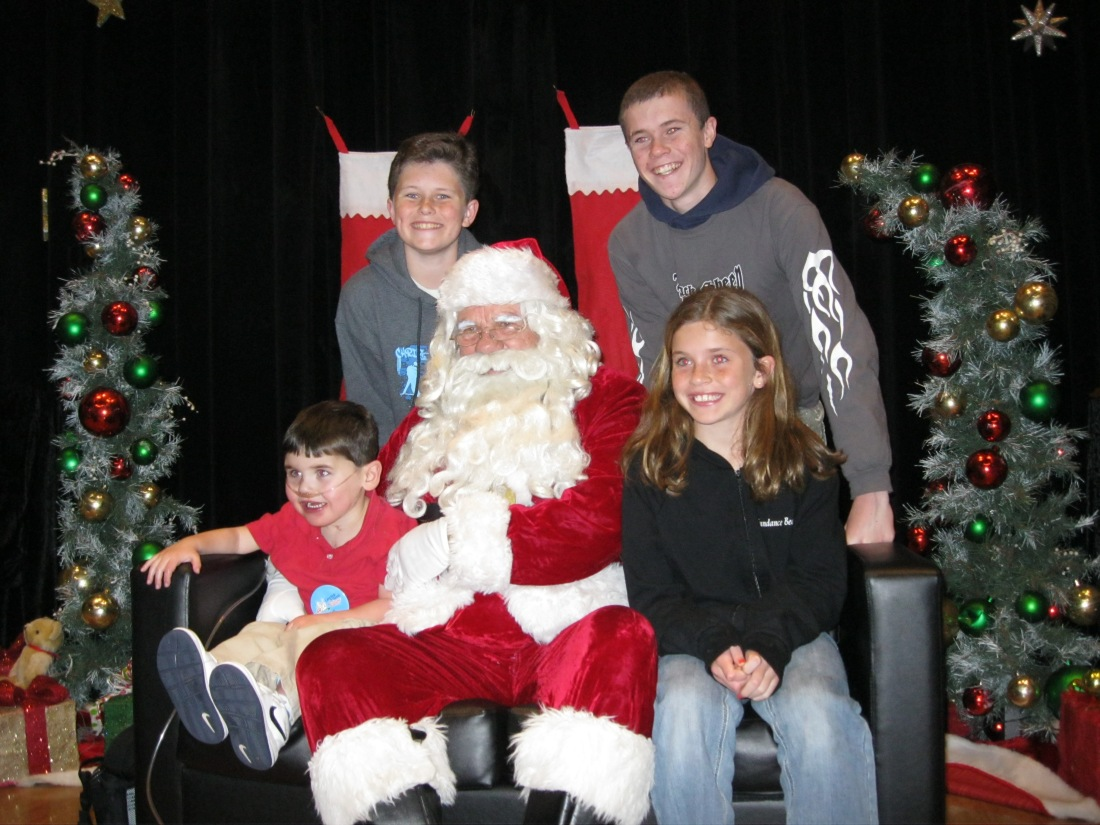 """It was Christmas at the Village the night we arrived and enjoyed a """"meet & greet"""" with Santa - who gave presents to all the kids!"""