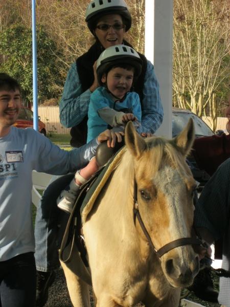 An early morning horseback ride!