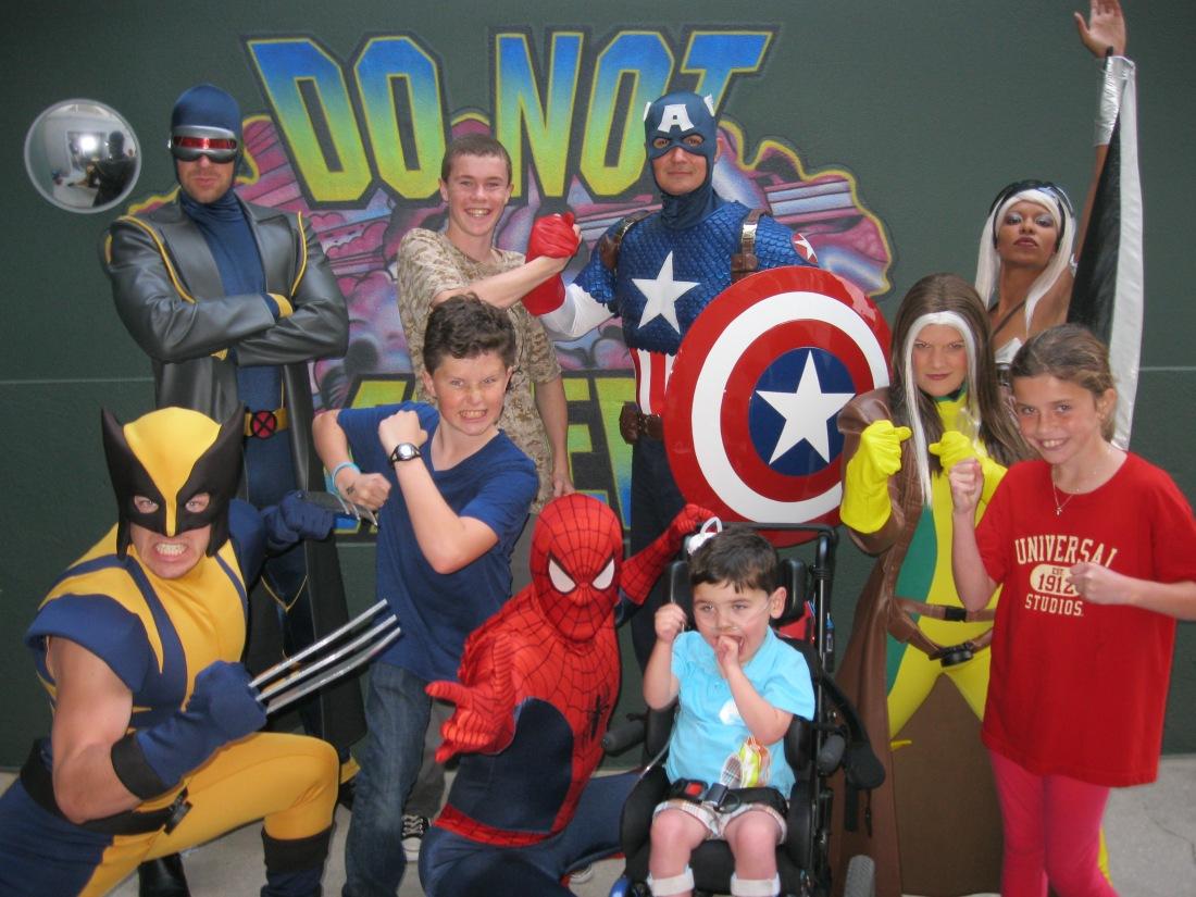...where we had a Meet & Greet with ALL the Marvel Superheros!!!