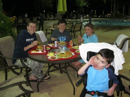 We ended our day with a poolside dinner...