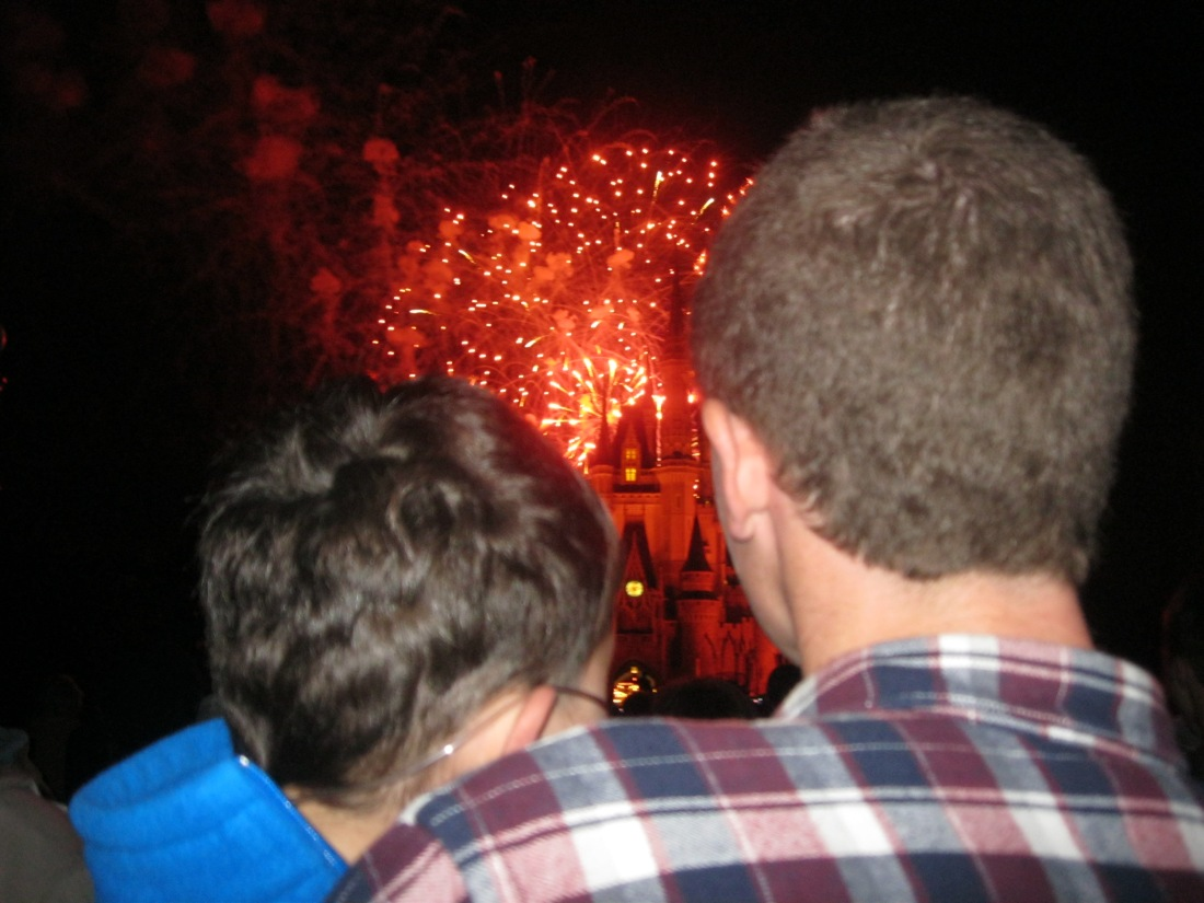 We ended our day with the fireworks show...Wilson held Rudy so he could see...precious.  The fireworks, the music and this image made me cry.  :)