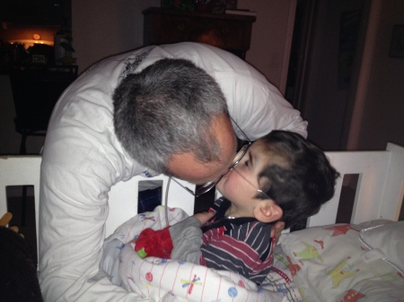 New Year kiss from Daddy!