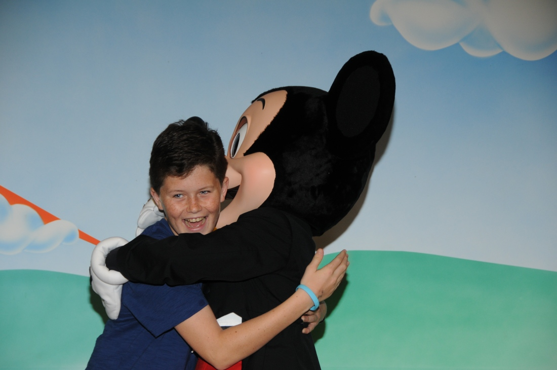 A BIG hug from Mickey!
