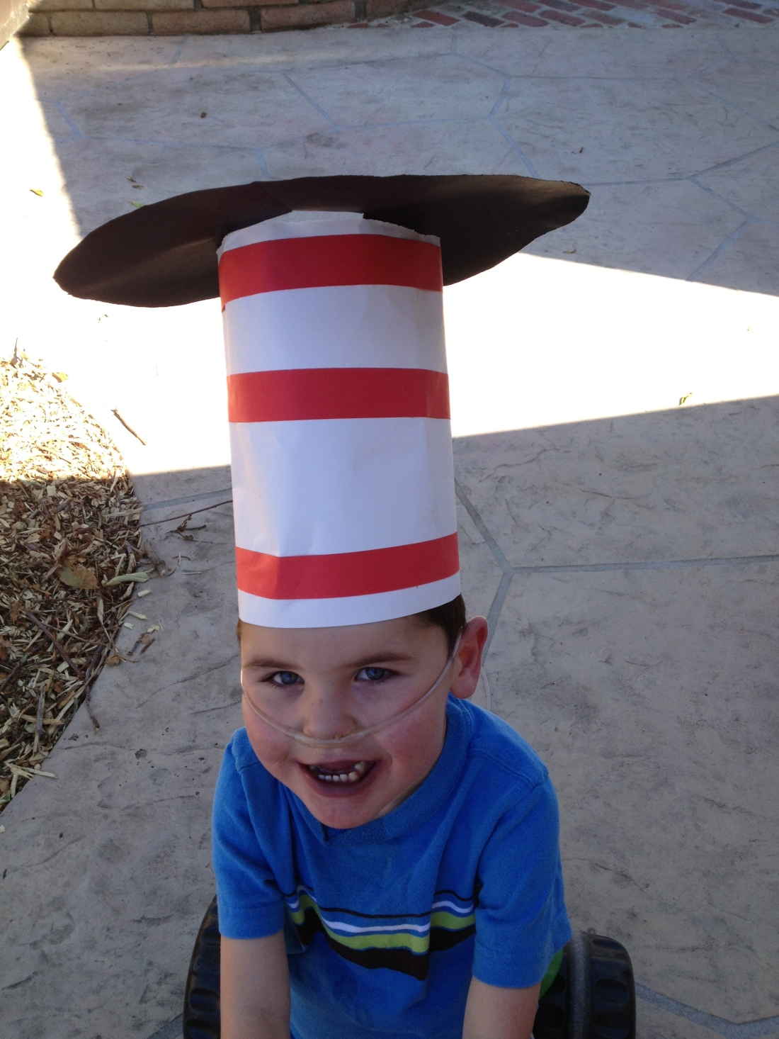 Dr. Seuss Day at Rudy's school.