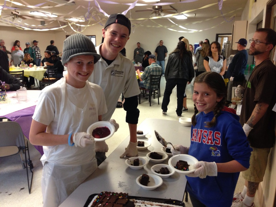 The joy of serving the homeless at SBRM's Easter Feast.