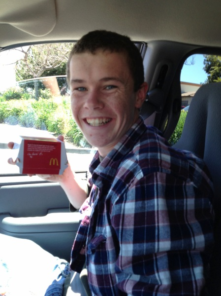 "Wilson celebrated his ""Sweet 16"" with an off-campus lunch date at McDonalds with his Momma..."