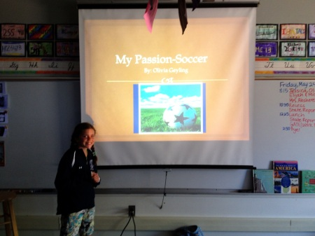 "5th grade ""My Passion"" powerpoint presentation by Olivia Geyling!"