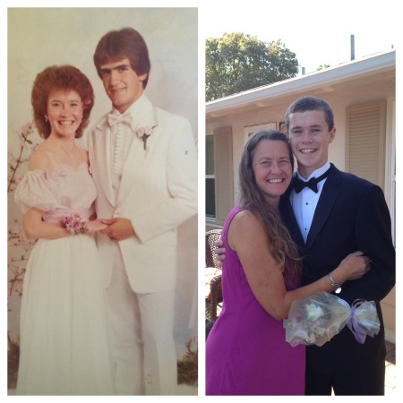 It was a big weekend for dancing as Wilson went to his first prom on Saturday.  As I helped Wilson prepare to get ready, it dawned on me that I went to my first prom this same week 30 years ago!  ha ha