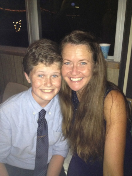I enjoyed an evening out with Max on Friday night for the 8th grade Soiree...an annual parent/child event.  Max pretty much danced every song with a different gal pal but saved three dances for his mama! :)
