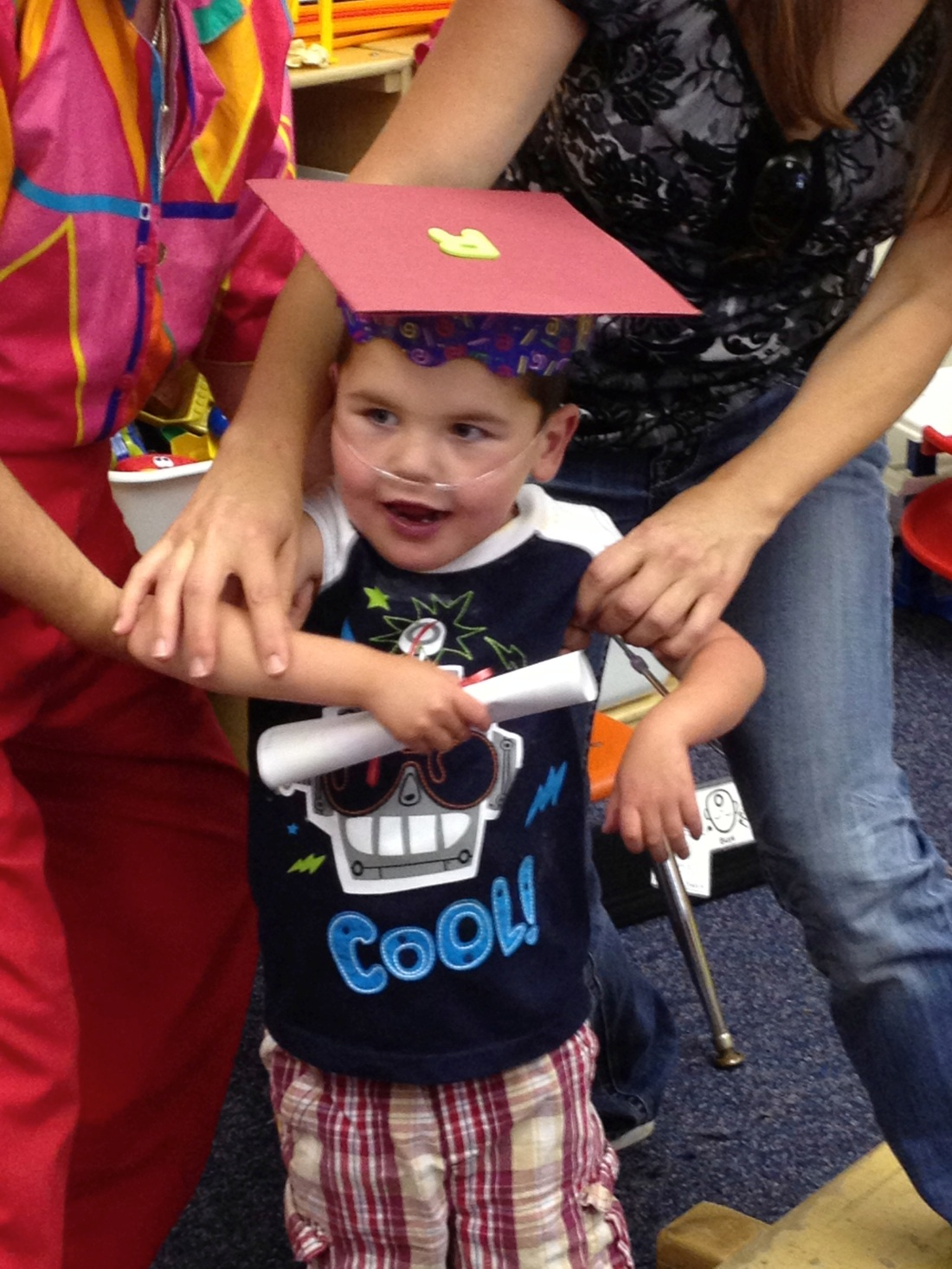 Rudy's official graduation from the Bear Club - his special county special ed preschool class!