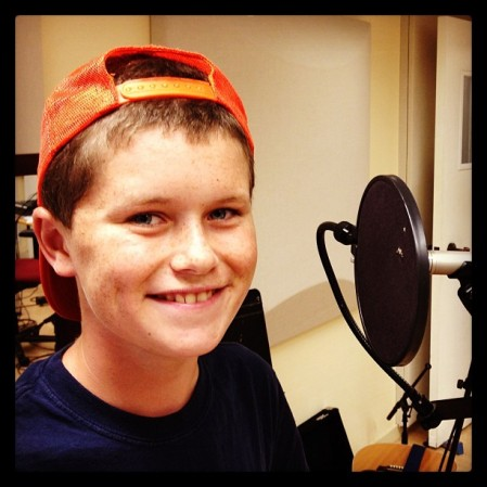 Maxo at Guitar Jedi Camp...spending a little time in the recording studio.