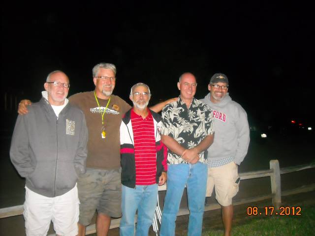A special reunion with dear old friends...(Jerry, Marlin, Curt and Gary)  Did anyone get a good pic of us gals?