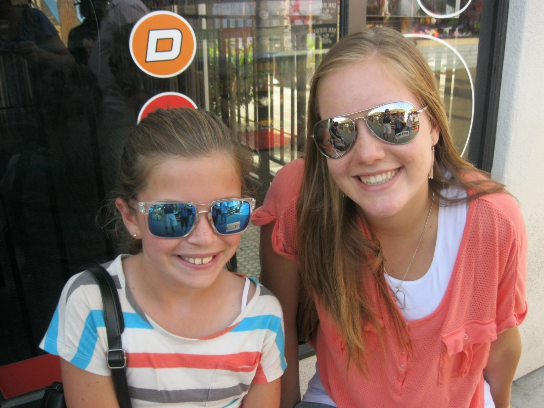 Livy and CeCe sporting new sunglasses!