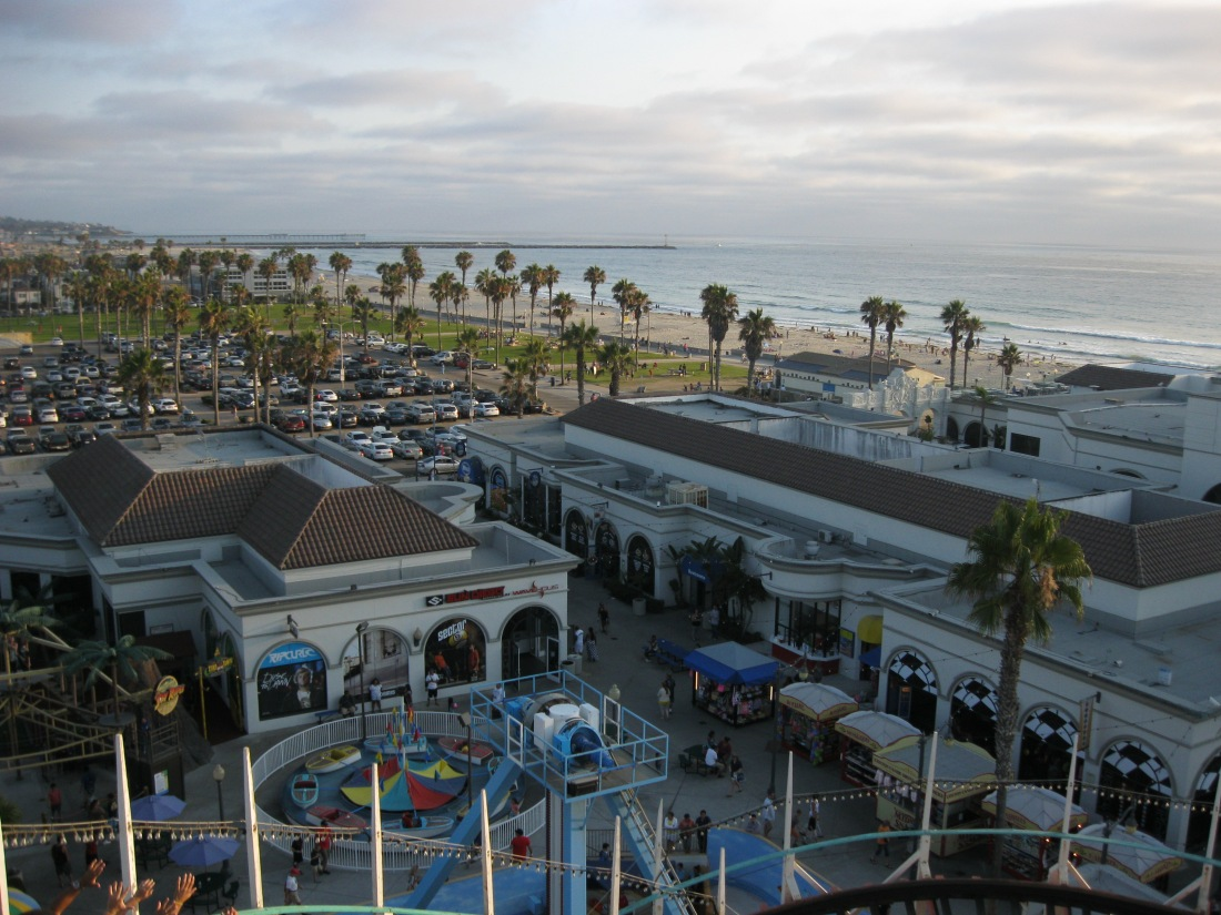 View of Mission Beach from the Giant Dipper!