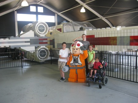 The giant X-wing made out of legos was a highlight!