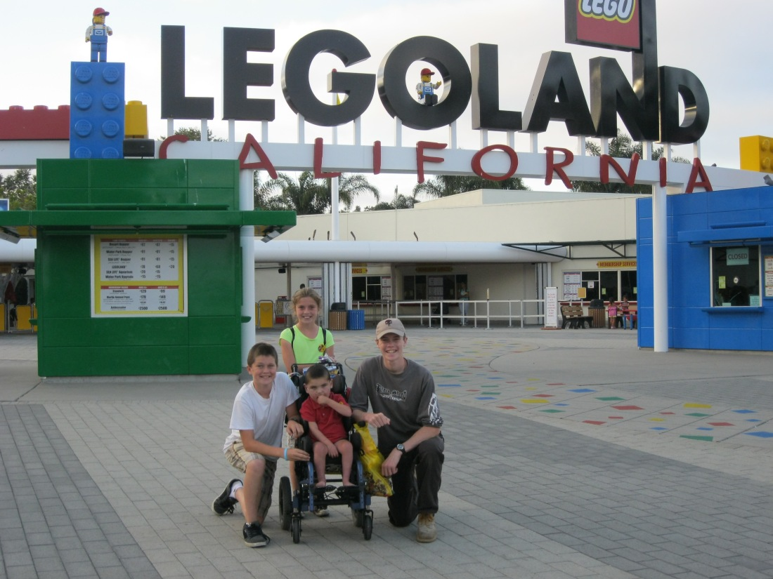 We spent the next day at Legoland!