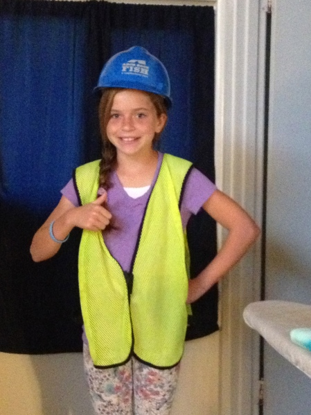 Newly elected student council member Olivia...it's good to know we have a Safety Officer in the house!