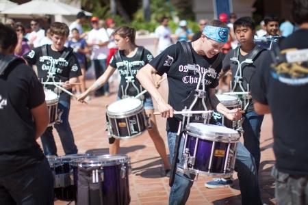Go drum line, go drum line!