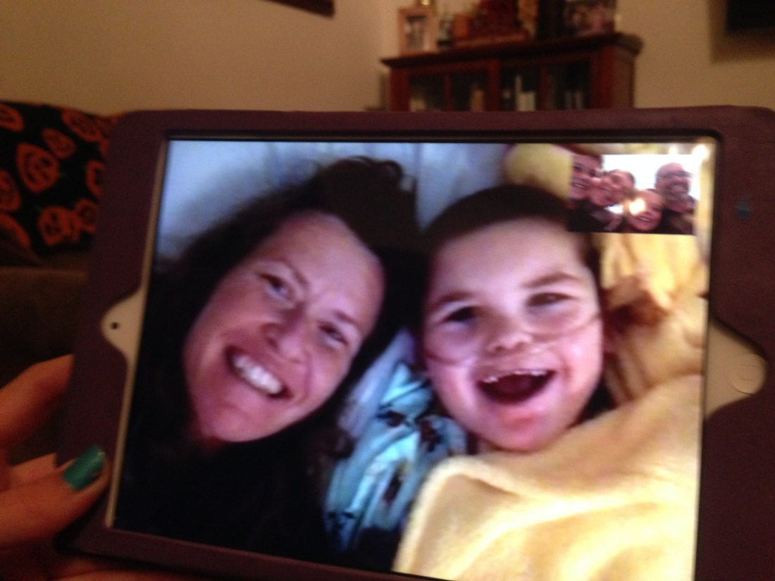 "Rudy ended the day on a ""super happy"" note facetiming with Daddy and the big sibs!"