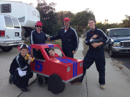 Race car driver Rudy and his pit crew!!!