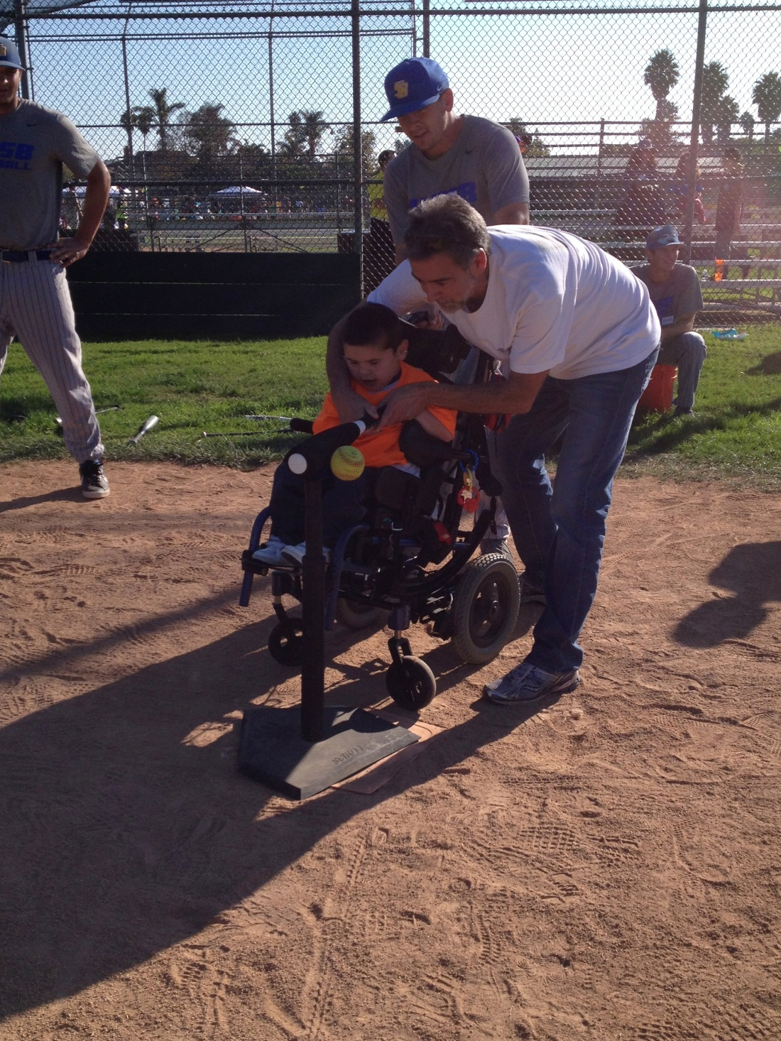 Rudy's first t-ball game with the UCSB Gauchos!