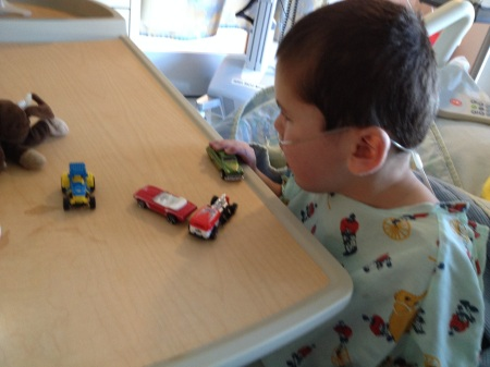 One of the big perks of being at the Mattel Children's Hospital is the never ending supply of Hot Wheels!  :)