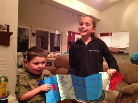 Olivia gave Rudy one of her signature cards!  Awesome!