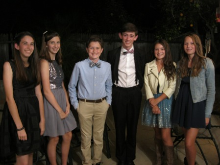 Max and his buddies enjoyed their first High School Homecoming!