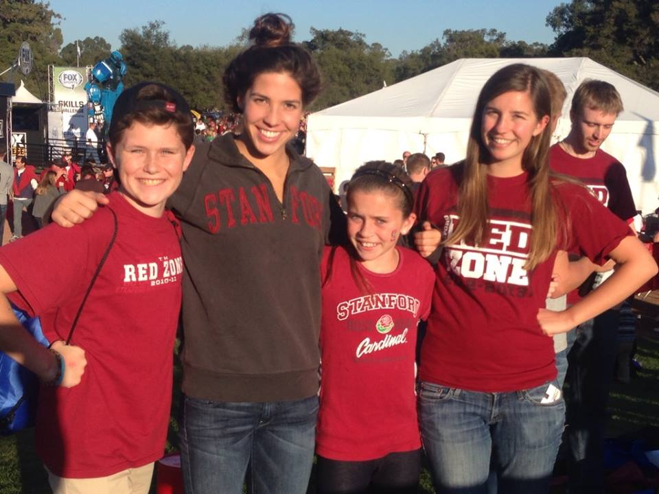 Max and Livy at the Stanford/Notre Dame game with our god-daughter Maya and her sister Sarah…Fear the Tree!!