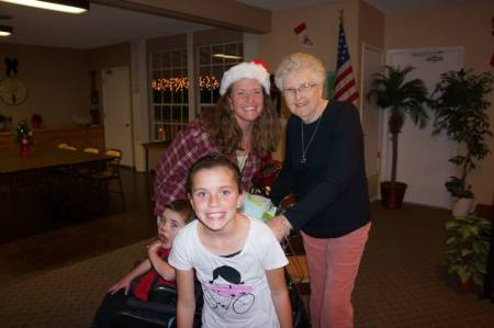 Grandma Jo hit the ground running when she touched down…Christmas parties!  School performances! SBRM events…and more!  Ha Ha