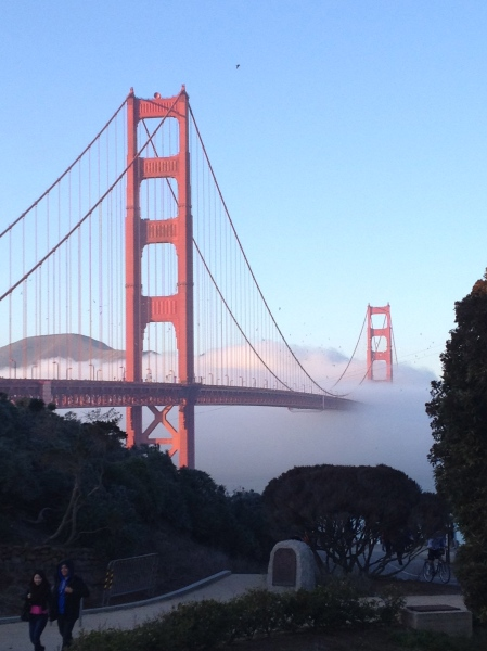 No trip to SF is complete without a visit to our bridge…and a little walk down memory lane!