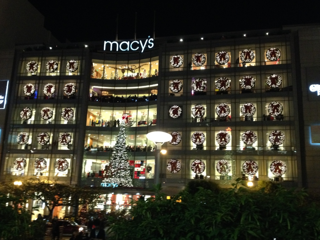Taking in the all the Holiday hoopla at Macy's