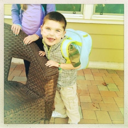 Rudy's first day at La Patera  Elementary School  1-27-2014