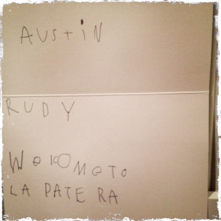 a note from one of Rudy's classmates…precious!