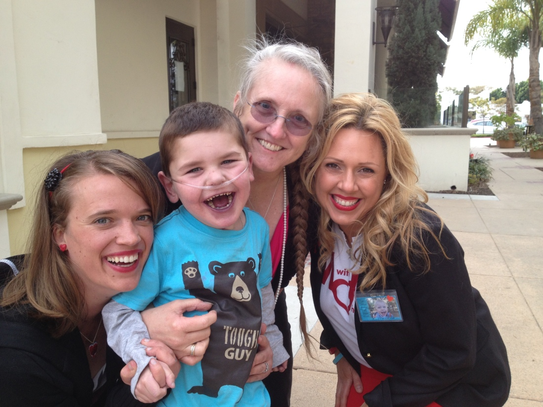 Rudy was all smiles with Jeni, Joyce and Rayme!