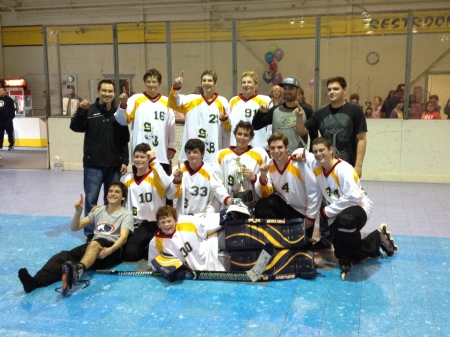 Not that it has anything to do with CHD Awareness Week but Rudy got to see Max's JV Hockey Team win the league championship on Saturday in a double-overtime, nail-biting finish!!