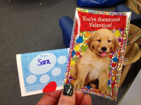 Great minds think alike…Rudy and his nurse, Sara, brought the exact same Valentine's to share with the class!!!  ha ha