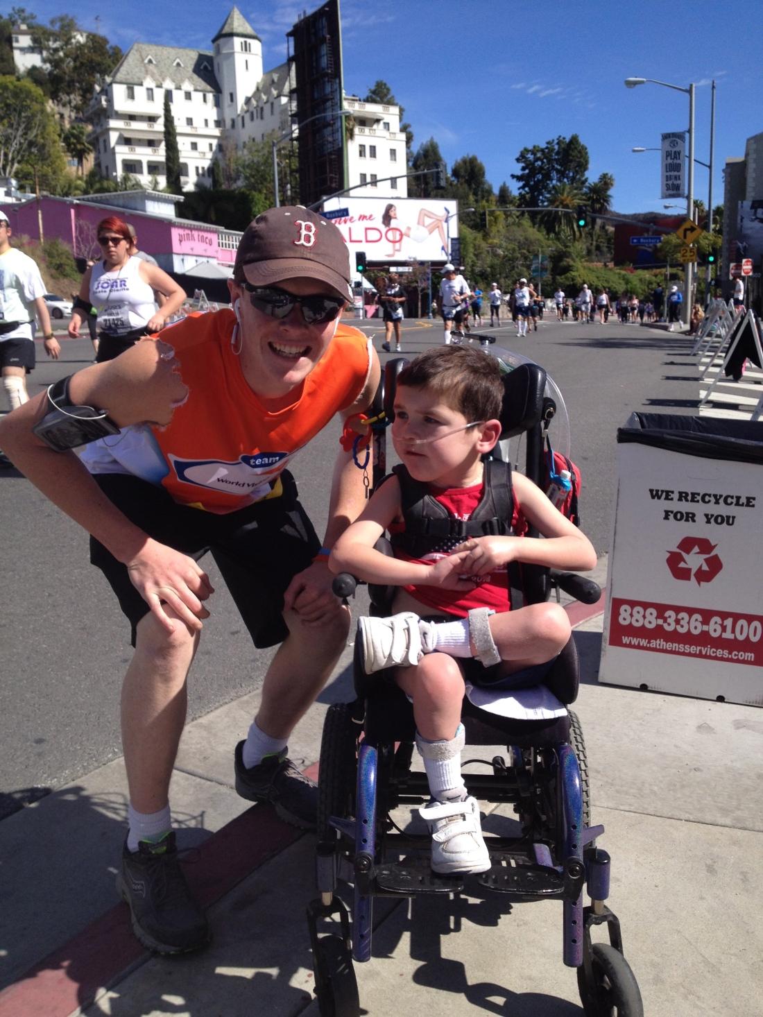 Photo op during the LA Marathon!