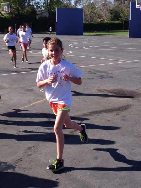 Olivia's strong showing at La Patera's annual jog-a-thon!