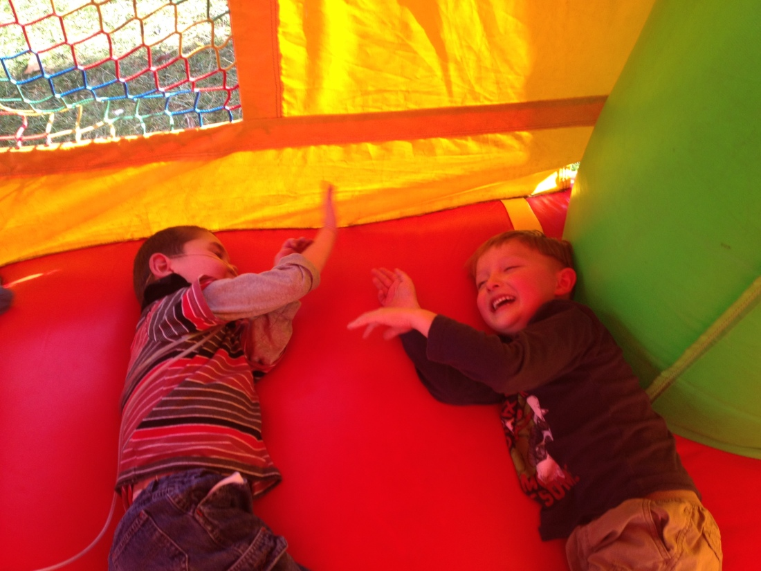...and the friends IN the bounce house!!!!  Yay friends!