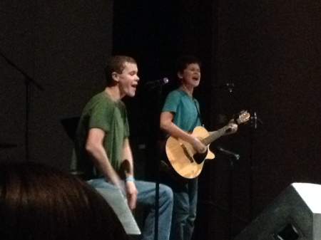The boys performing at the conference last weekend.