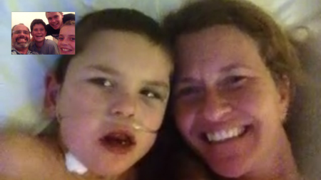 Family FaceTime makes hospital stays more fun--but nothing's better than being together in person again!